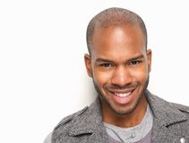 Handsome young man smiling Royalty Free Stock Photos