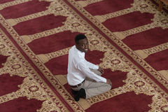 Handsome Young Man Smiling In The Mosque Stock Photography