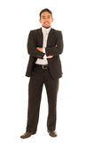 Handsome young man in a suit posing Stock Image