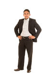 Handsome young man in a suit posing Stock Photo