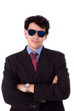 Handsome young man with sun glasses smiling Royalty Free Stock Photography