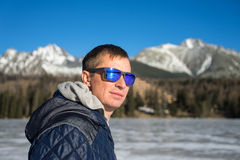 Handsome young man in sunglasses Royalty Free Stock Image