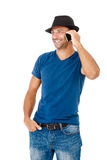 Handsome young man talking on the phone Royalty Free Stock Images