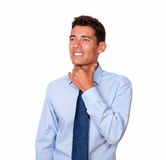 Handsome young man with throat pain Royalty Free Stock Photos
