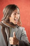 Handsome Young Man with Thumbs Up Gesture Royalty Free Stock Photos