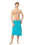Handsome young man with the towel Stock Photography