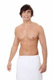 Handsome young man with the towel Royalty Free Stock Images