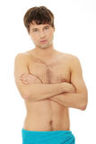 Handsome young man with the towel Royalty Free Stock Photo