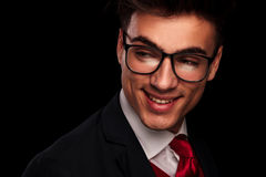 Handsome young man wearing glasses Royalty Free Stock Photo