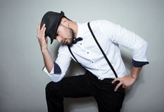 Handsome young man wearing hat Stock Images