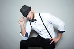 Handsome young man wearing hat Royalty Free Stock Photography
