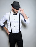 Handsome young man wearing hat Stock Image