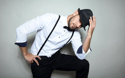 Handsome young man wearing hat Royalty Free Stock Photo