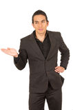 Handsome young man wearing a suit posing Royalty Free Stock Photo