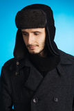 Handsome young man in winter clothing Royalty Free Stock Photos