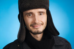 Handsome young man in winter clothing Stock Photography