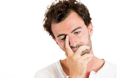 Handsome young man worried and upset Stock Photos
