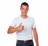 Handsome young man wtih ok sign Royalty Free Stock Photos