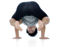 Handsome young man in yoga exercise Royalty Free Stock Photos