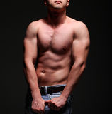 Handsome young muscleman Royalty Free Stock Images