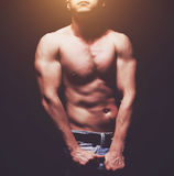 Handsome young muscleman Royalty Free Stock Photos