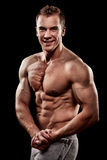 Handsome young muscular sports man Royalty Free Stock Photo