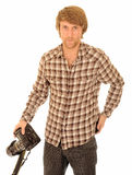 Handsome young photographer Stock Photos