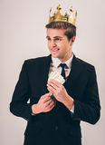 Handsome young prince Royalty Free Stock Photography