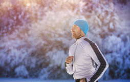Handsome young runner Royalty Free Stock Photography