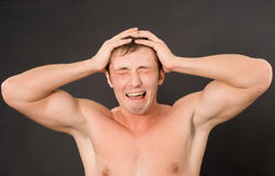 Handsome young shouting man Royalty Free Stock Photos