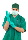 Handsome young surgeon Stock Photos