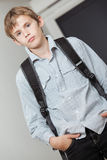 Handsome young teenage college student Stock Image