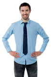 Handsome young trendy businessman Stock Photography
