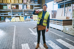 Handsome young warehouse employee Stock Image