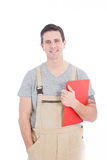 Handsome Young Worker Looking at Camera Royalty Free Stock Photography