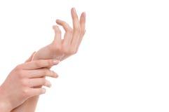 Handsorgfalt Stockbild
