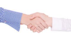 Handsshake two business woman Royalty Free Stock Photography