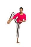 Handstand. Κορίτσι χορευτών του Λατίνα Στοκ Εικόνες