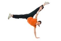 handstand девушки Стоковая Фотография
