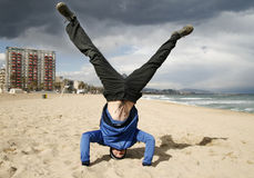 A handstand Stock Image