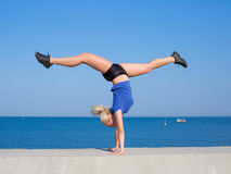 handstand Fotografie Stock