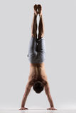 Handstand, back view Royalty Free Stock Images