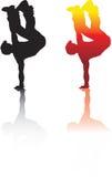 Handstand de Breakdancer Fotografía de archivo libre de regalías