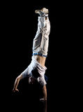 Handstand do homem Foto de Stock Royalty Free