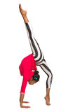 Handstand. Latina dancer girl Royalty Free Stock Images