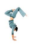 Handstand relativo alla ginnastica Fotografia Stock