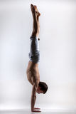 Handstand, side view Stock Photo