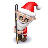 handstil för 3d Santa Claus med en penna Fotografering för Bildbyråer