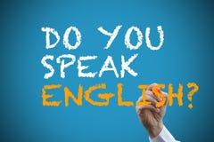 Handstil talar du engelska? Fotografering för Bildbyråer