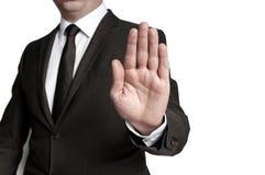 Handstop показало бизнесменом Стоковые Изображения